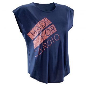 Domyos Loose T-shirt fitness cardio dames Energy